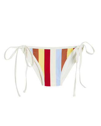 Amber Striped Bikini Bottoms, WHITE/STRIPES, hi-res