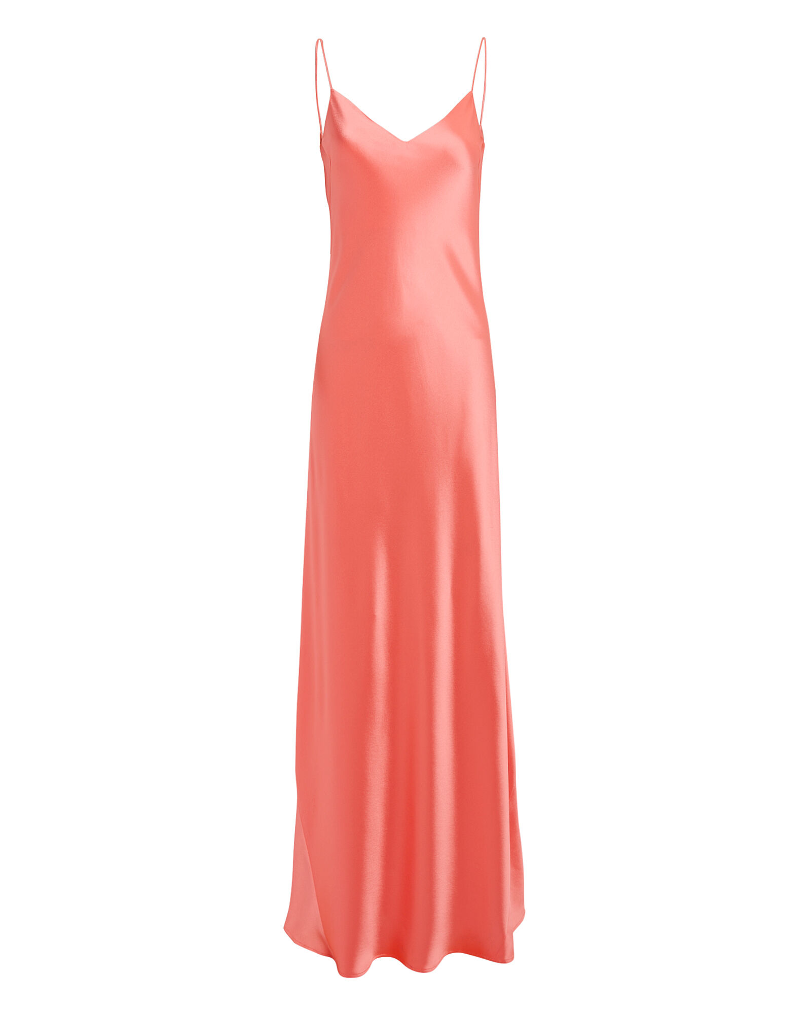 Coral Slip Gown, CORAL, hi-res