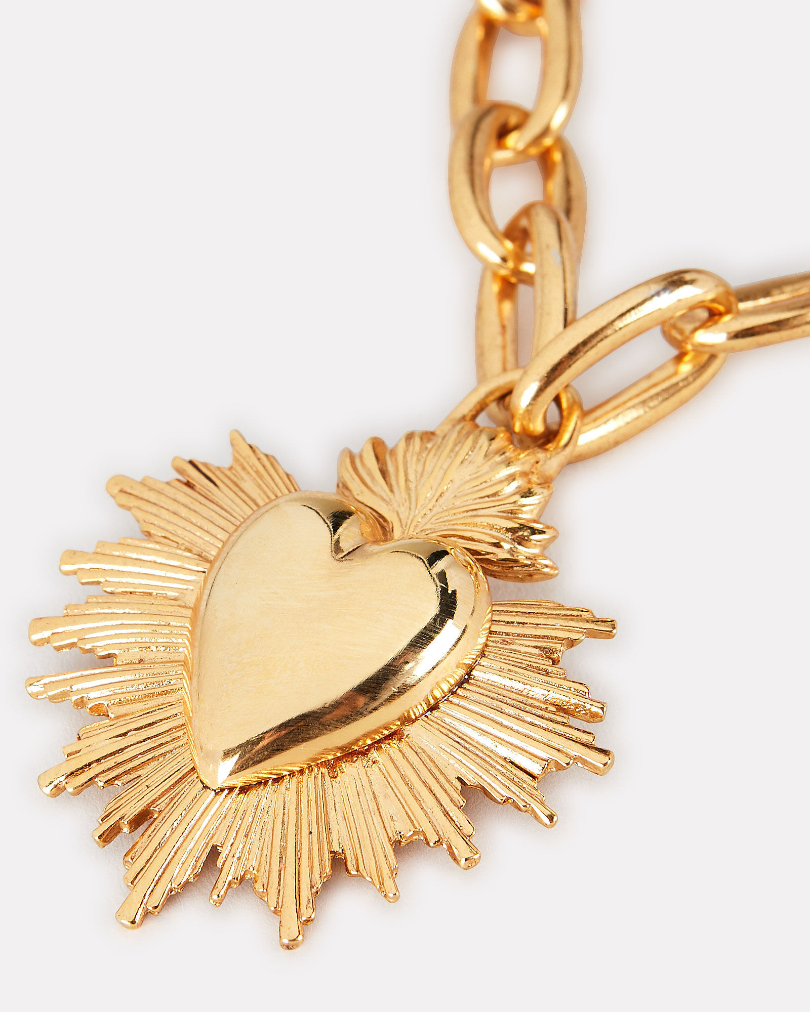 Sacred Heart Necklace, GOLD, hi-res