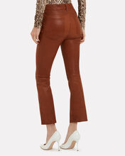Le Crop Leather Pants, BROWN, hi-res