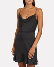 Parker Silk Mini Dress, BLACK, hi-res