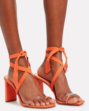 Katie 85 Suede Sandals, ORANGE SHERBET, hi-res