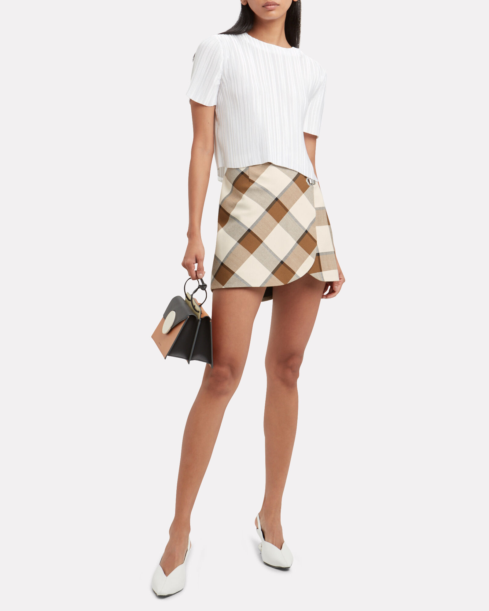 Dylan Plaid Skirt, BROWN/PLAID, hi-res