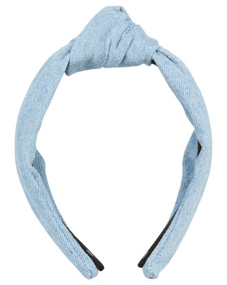 Denim Knotted Headband, BLUE DENIM, hi-res