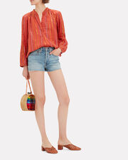 Papyrus Striped Blouse, RED, hi-res