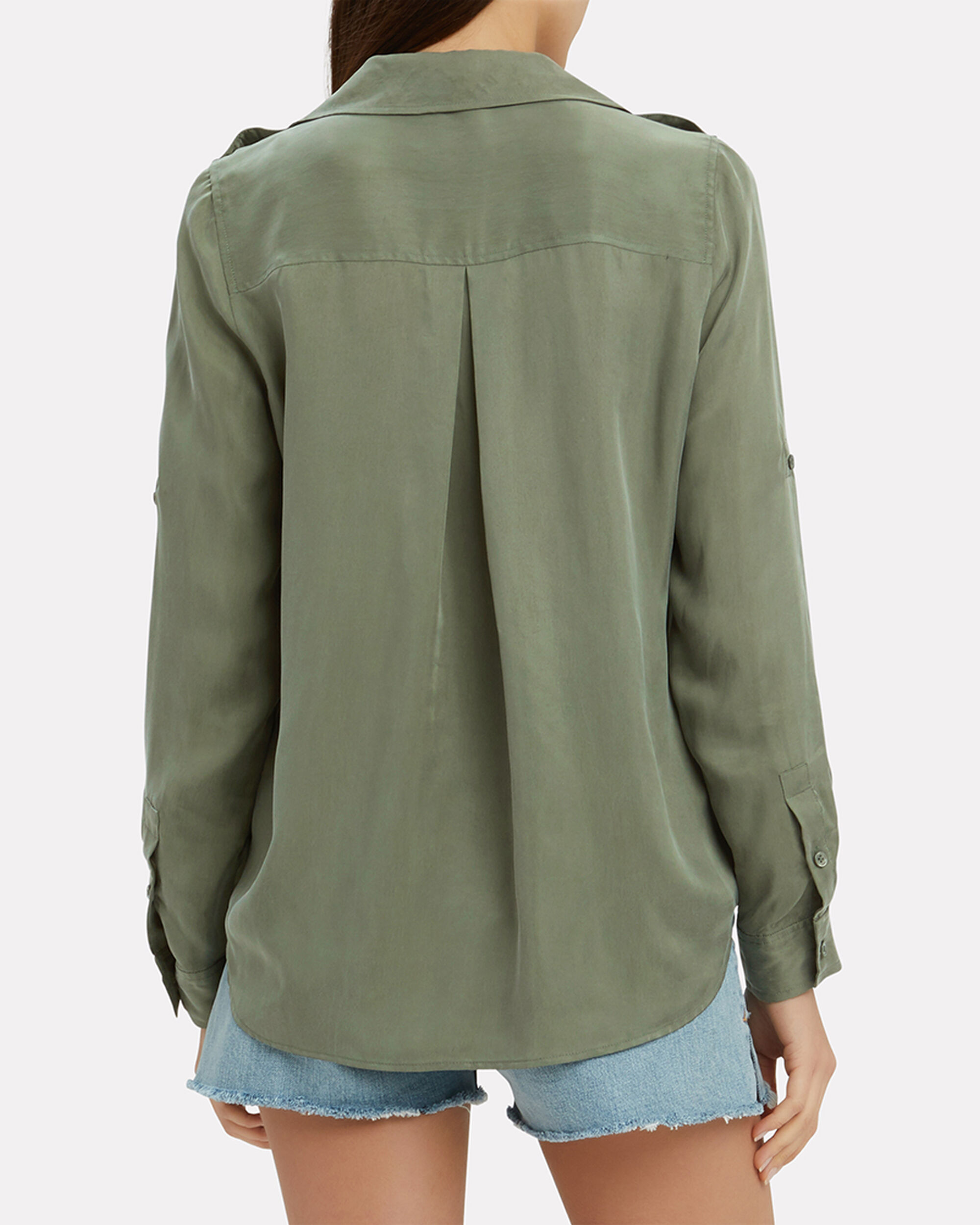 Lunetta Military Shirt, OLIVE/ARMY, hi-res