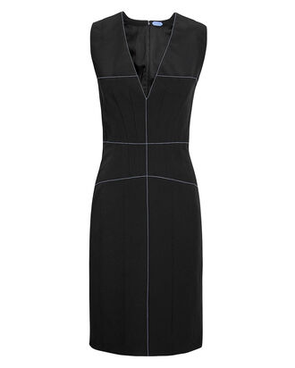 Tailored Shift Dress, BLACK, hi-res