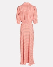 Carol Polka Dot Tie-Front Midi Dress, PALE PINK/WHITE, hi-res
