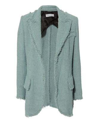 Terry Tweed Oversized Blazer, BLUE-LT, hi-res