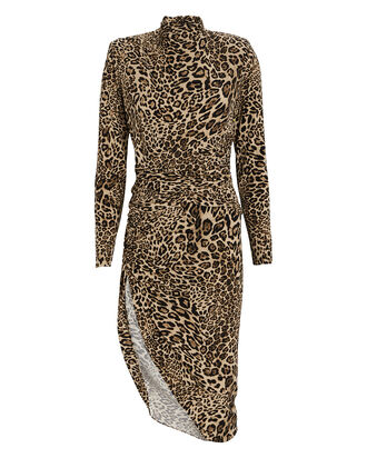 Bruna Leopard Jersey Midi Dress, MULTI, hi-res