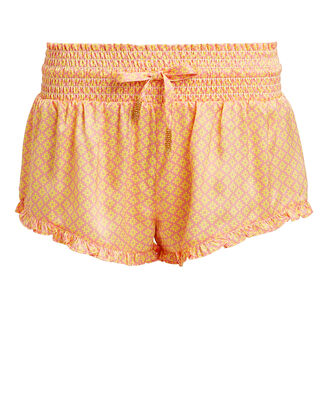 Paloma Silk Embellished Shorts, MULTI, hi-res