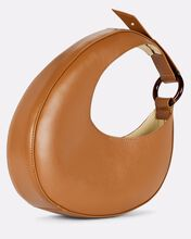 Micro Ostra Leather Shoulder Bag, BROWN, hi-res