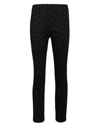Honolulu Leopard Jacquard Trousers, BLACK/LEOPARD, hi-res