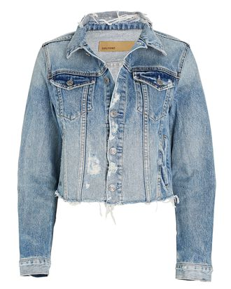 Cara Cropped Denim Jacket, Mary Jane, hi-res