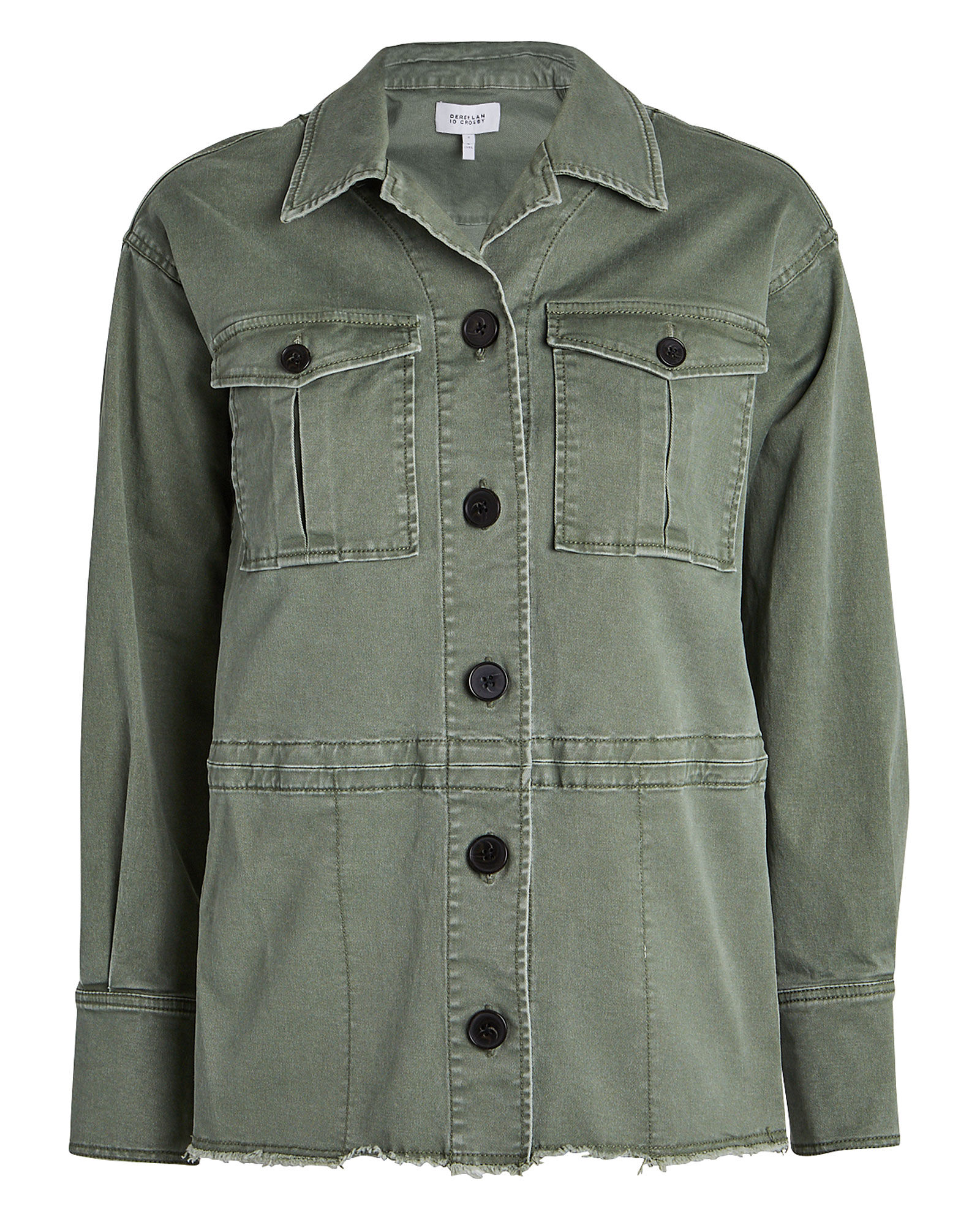 Stretch Chino Utility Jacket, OLIVE GREEN, hi-res