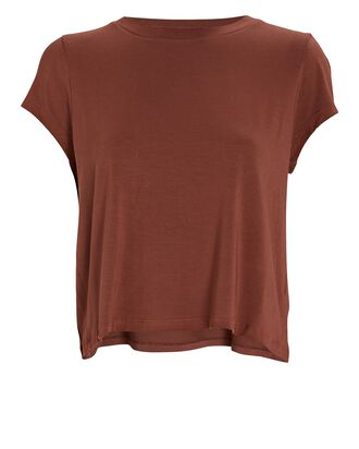 Nadia Cropped T-Shirt, BROWN, hi-res
