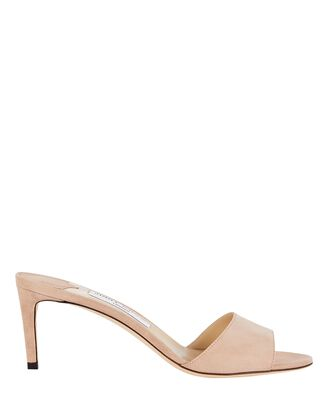 Stacey 65 Suede Sandals, BLUSH, hi-res