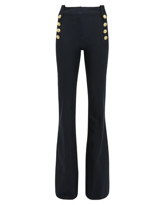 Robertson Flared Sailor Trousers, NAVY, hi-res