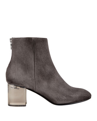 Drea Lucite Heel Booties, GREY, hi-res
