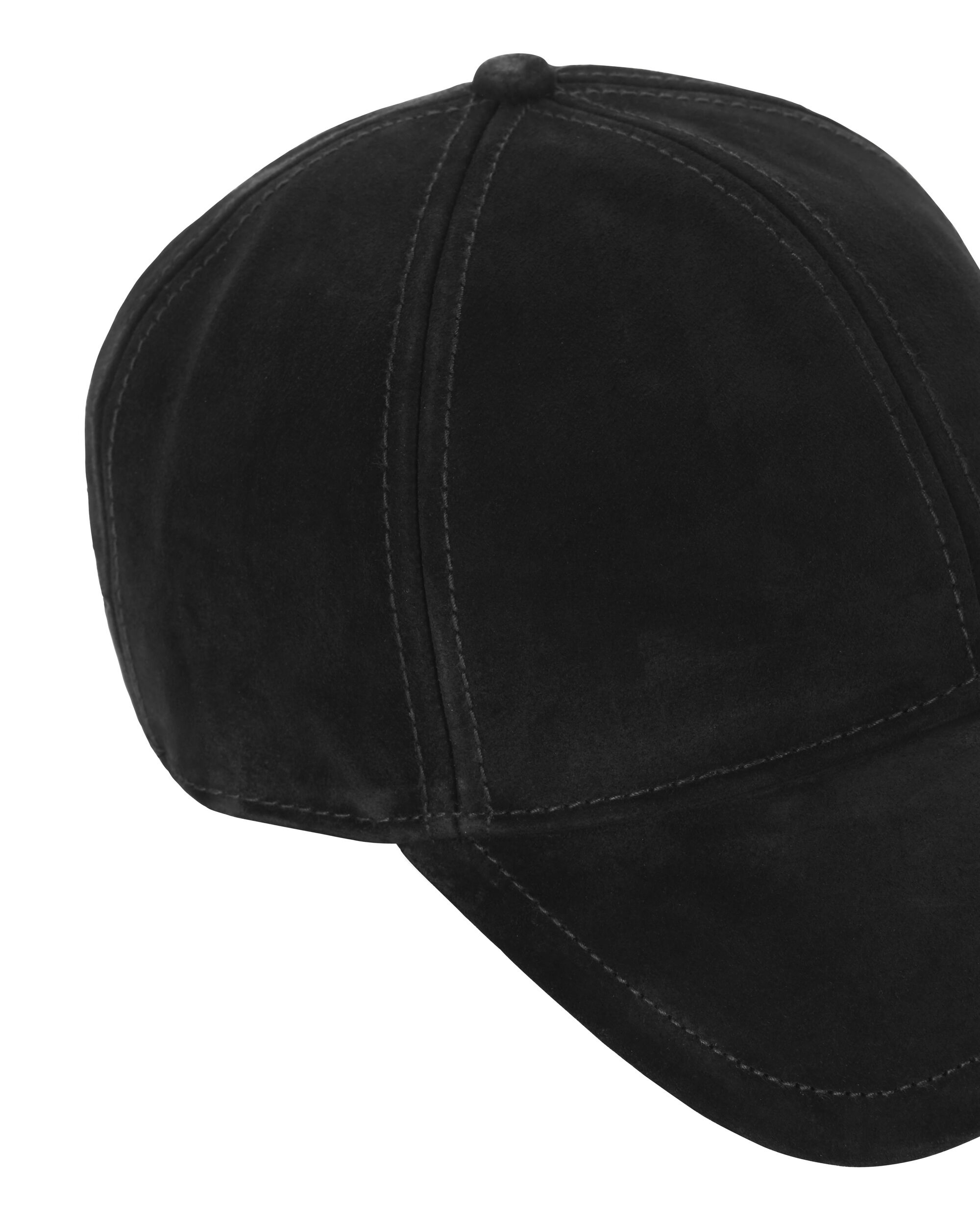 Marilyn Suede Baseball Cap, BLACK, hi-res
