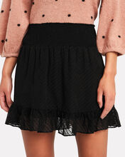 Rena Swiss Dot Silk Skirt, BLACK, hi-res