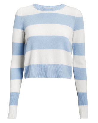 Valencia Striped Sweater, BLUE/WHITE, hi-res