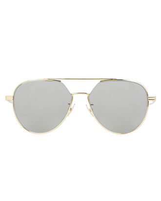 Silver Flash Aviator Sunglasses, GOLD, hi-res