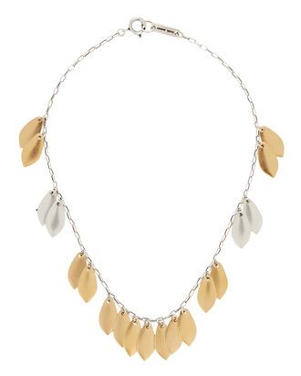 El Condor Fringe Necklace, GOLD/SILVER, hi-res