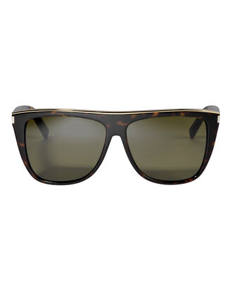 Flat Top Sunglasses, BLACK, hi-res