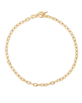 Twisted Link Toggle Necklace, GOLD, hi-res