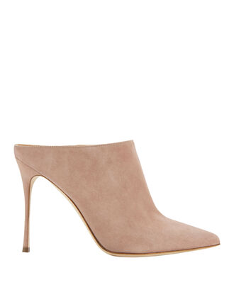 Godiva Open Back Suede Pumps, BEIGE, hi-res