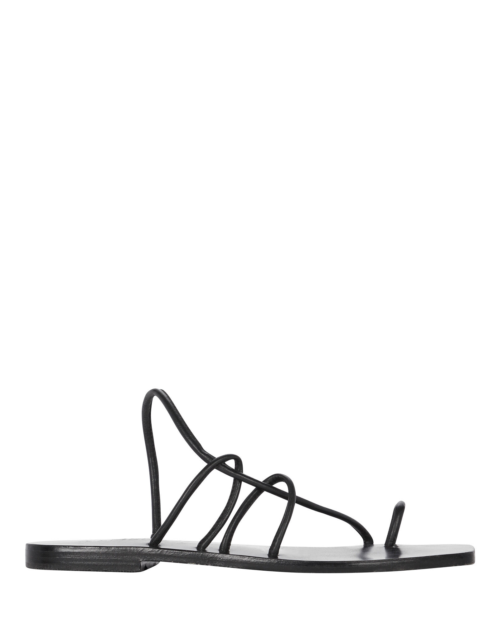 Willow Strappy Leather Sandals, BLACK, hi-res