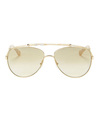 Gold-Tone Aviator Sunglasses, GOLD, hi-res