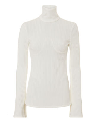 Kinetic Rib Knit Ivory Top, IVORY, hi-res