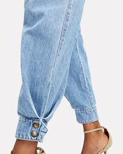 Edie High-Rise Cargo Jeans, LIGHT WASH DENIM, hi-res