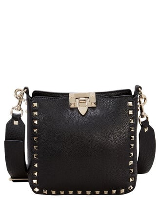 Rockstud Crossbody Bag, BLACK, hi-res