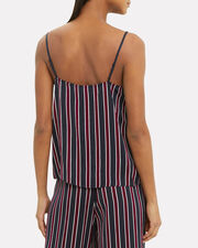 Striped Classic Cami, NAVY/RED, hi-res