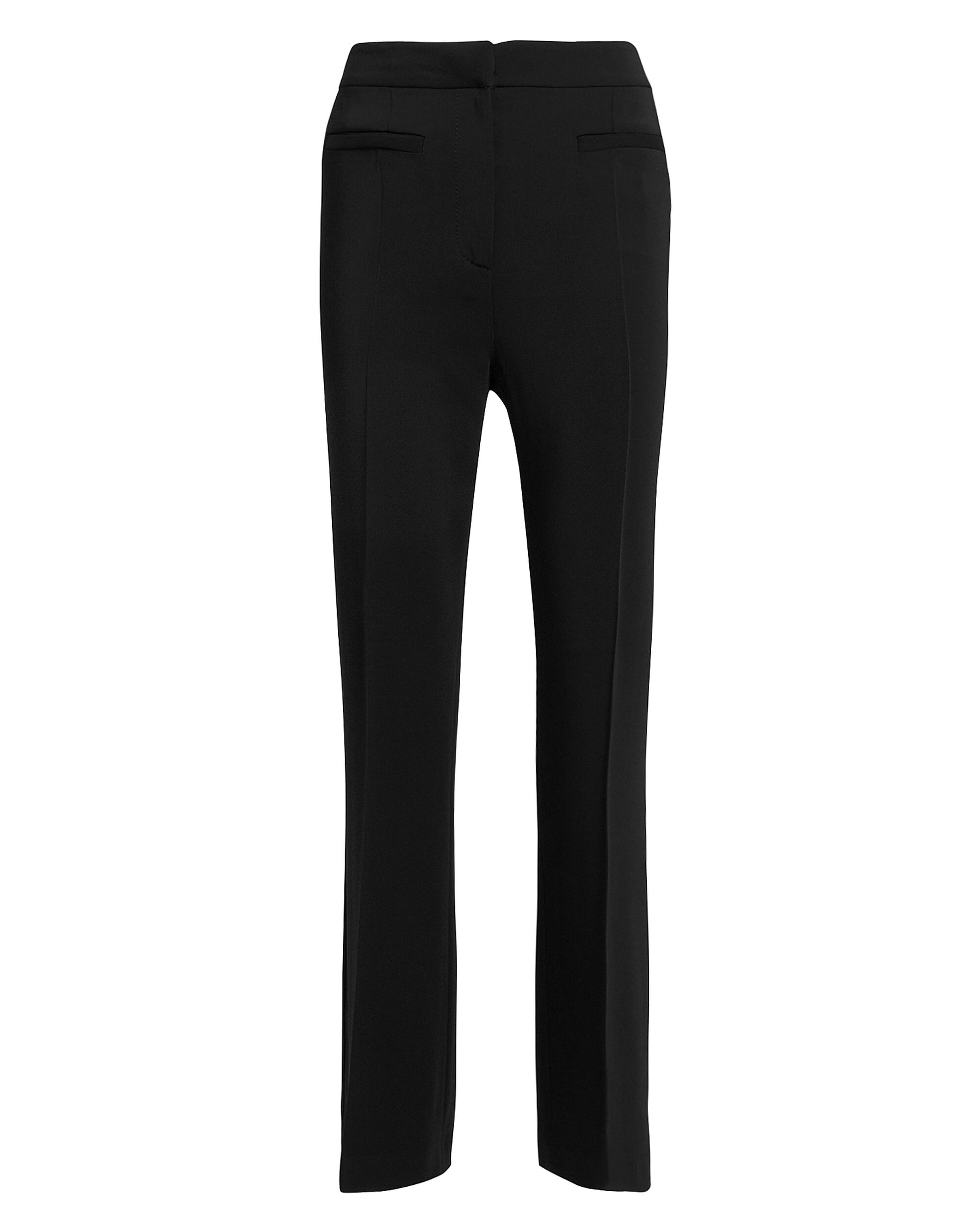 Black High-Waisted Trousers, BLACK, hi-res