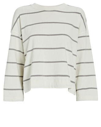 Plaited Jersey Striped Sweatshirt, MULTI, hi-res