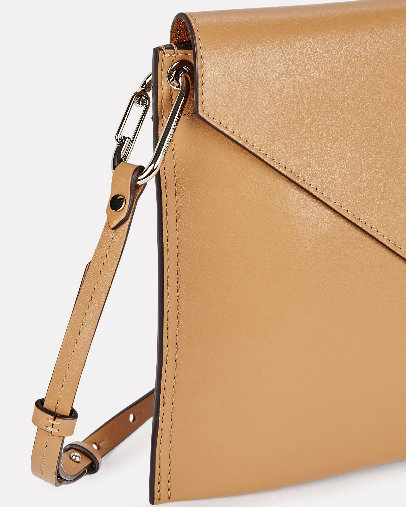 Tryne Asymmetrical Leather Bag, BROWN, hi-res
