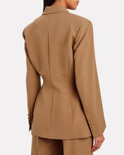 Double-Breasted Crepe Blazer, BEIGE, hi-res