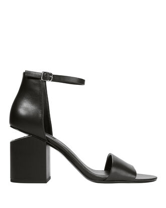 Abby Cutout Heeled Sandals, BLACK, hi-res