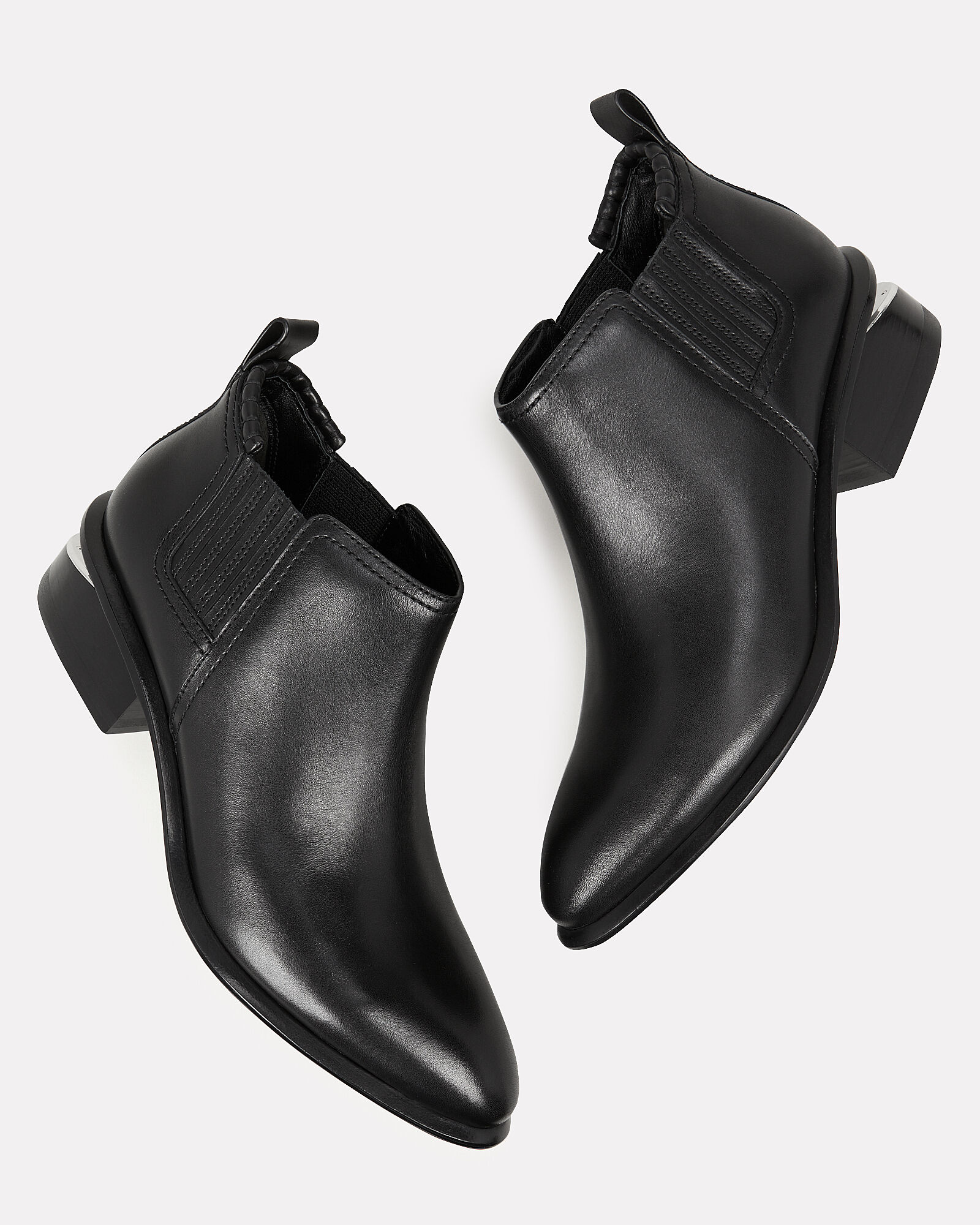 Kori Cutout Heel Low Booties, BLACK, hi-res