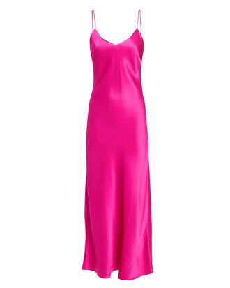 Rosemary Slip Midi Dress, HOT PINK, hi-res