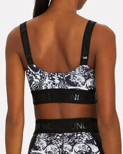India Butterfly Logo Sports Bra, BLK/WHT, hi-res