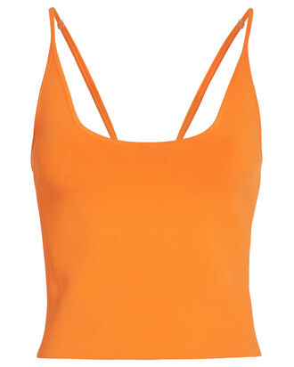 Ava Knit Tank Top, ORANGE, hi-res