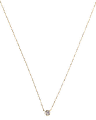 Diamond Disc Pendant Choker, GOLD, hi-res