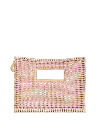 Iside Crystal-Embellished Clutch, ROSE/GOLD, hi-res
