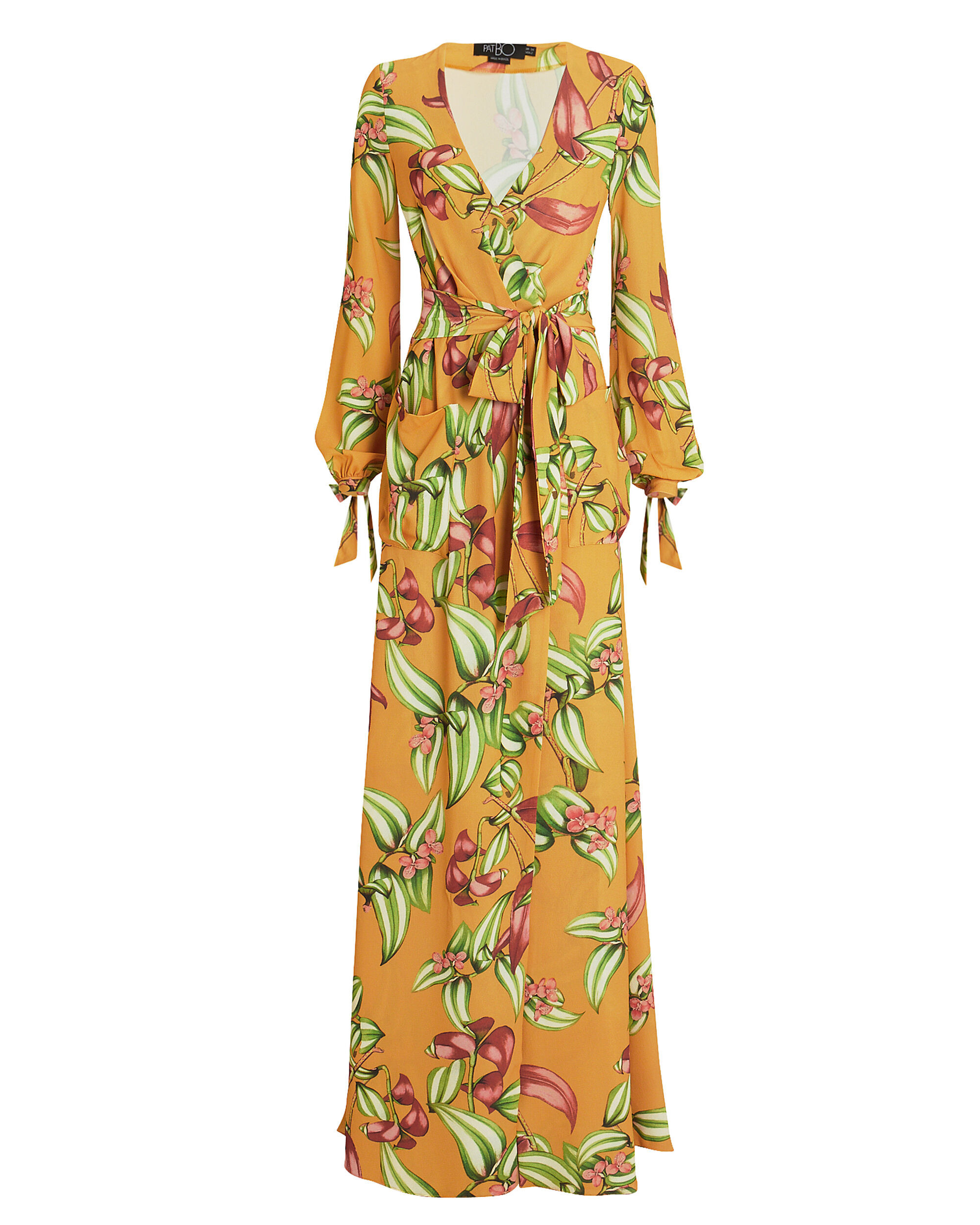 Zebrina Floral Wrap Maxi Dress, YELLOW/FLORAL, hi-res