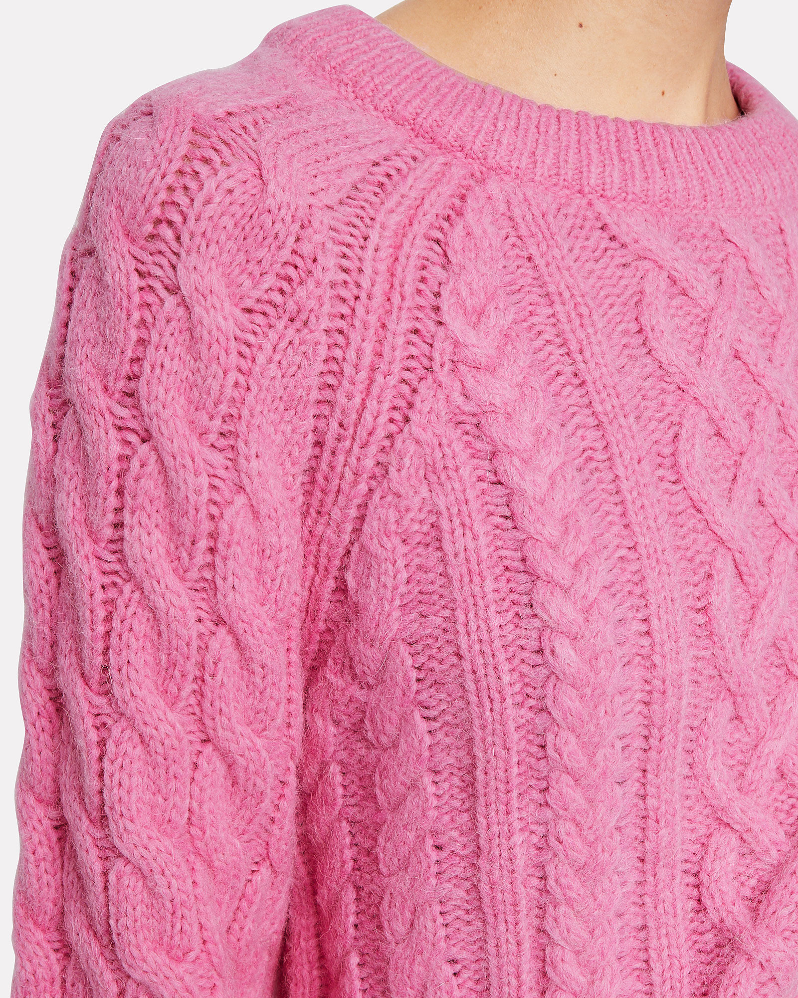 Mick Cable Knit Sweater, PINK, hi-res